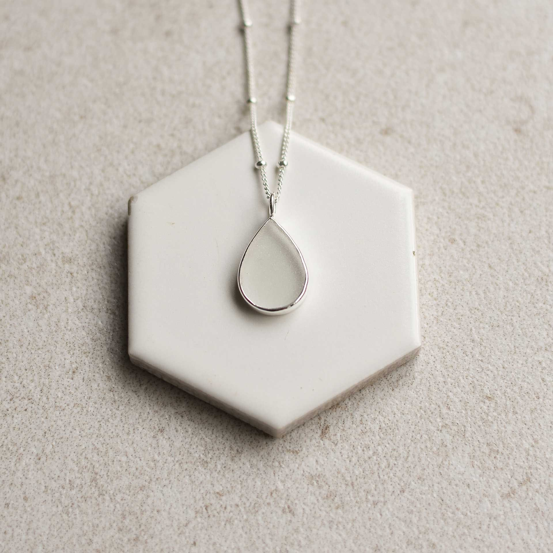 white sea glass - S1